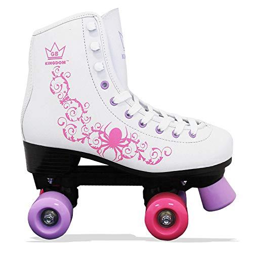 Kingdom GB Vector v2 4-Rollen Skaten Rollschuhe (Weiß/Lila/Pink, 39 EU)