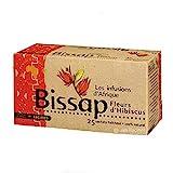 [ INFUSION 100% BISSAP ] Set de 2 cajas de infusión con Bissap | Flores de hibisco o Karkade | 100% natural | 2 x 25 sobres de 1.6g