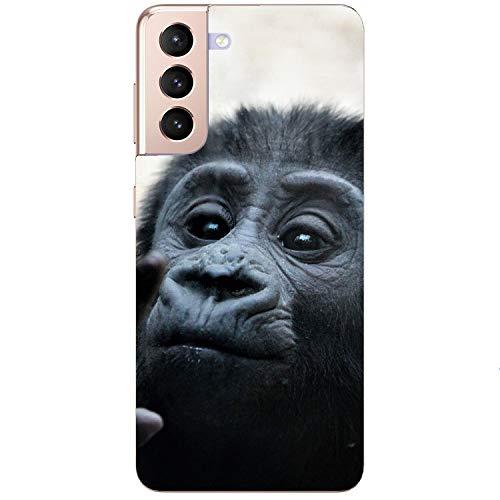 AFFE - Funda blanda para teléfono móvil, diseño de bebé mono, para Apple Huawei Honor Nokia One Plus Oppo ZTE Xiaomi Google, tamaño: Samsung M51