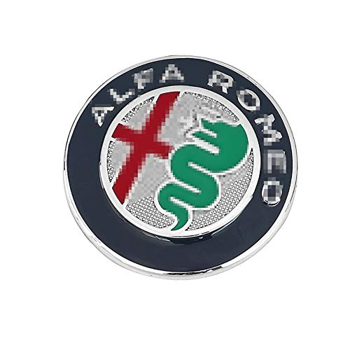 QHCP Aluminium Alloy Car Steering Wheel Badge Emblem 3D Sticker For Alfa Romeo Giulia Stelvio Car Styling Accessories