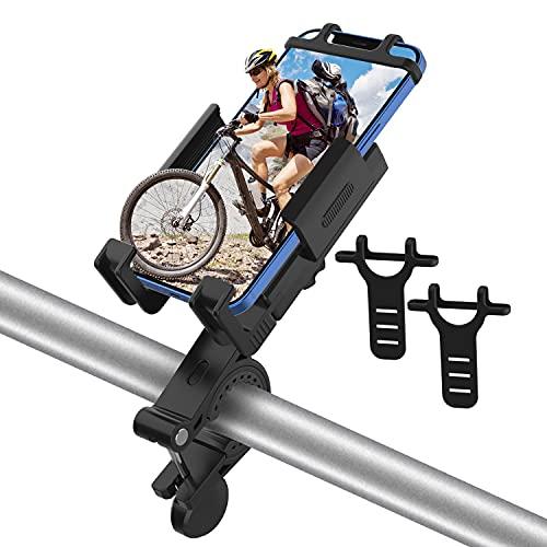 Supporto Telefono Bicicletta, Porta Telefono Motociclo, Rotazione a 360° Manubrio Universale Porta Cellulare Moto, Universale Manubrio Supporto Cellulare per 4,7-6,7 Pollici Smartphones