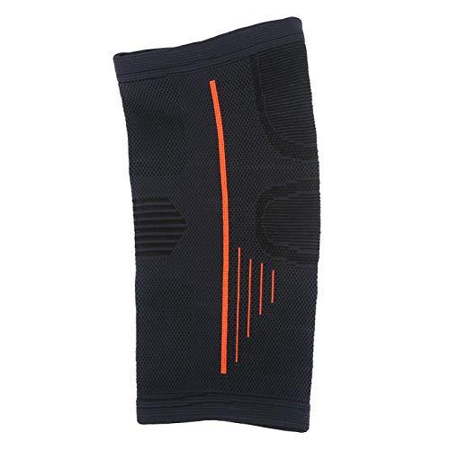 SALUTUYA Envoltura de Codo Material de Nailon Negro y Naranja Transpirable con Tejido 3D, para Entrenamientos de Gimnasio