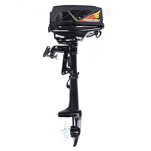 Outboard Trolling Motor, 5HP 1200W Electric Trolling Motor Engine Outboard Propeller Motor Fishing Boat Engine for Inflatable Boat Dinghy Kayaks Canoe -  VONZOER, OTMLLCR3494CSW