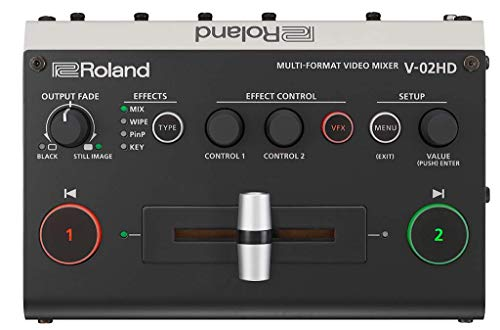 Roland V-02HD Multi-Format Video Switcher - Switcher, scaler, expander — mit Audio-Processing und Video-Effekten