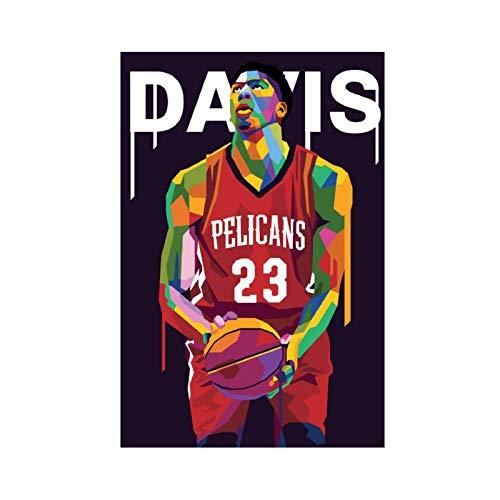 Superstar - Póster de baloncesto Anthony Davis Sport personalizado 9 póster de lona para decoración de dormitorio, paisaje, oficina, decoración de habitación, regalo de 30 x 45 cm