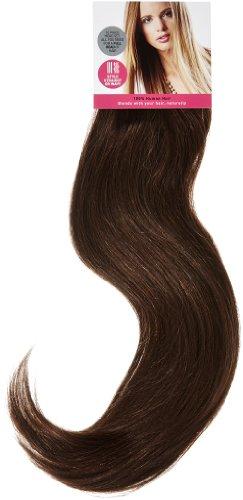 Love Hair Extensions - LHE/A1/QFC/120G/10PCS/18/2/4 - 100 % Cheveux Naturels Lisses et Soyeux - 10 Pièces Clippants en Extensions - Couleur 2/4 - Brun Foncé / Brun Châtain - 46 cm