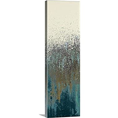 Roberto Gonzalez Premium Thick-Wrap Canvas Wall Art Print entitled Teal Woods II 12 x36