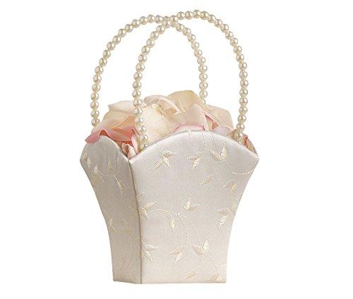 Lillian Rose Elegant Wedding Flower Girl Basket Ivory