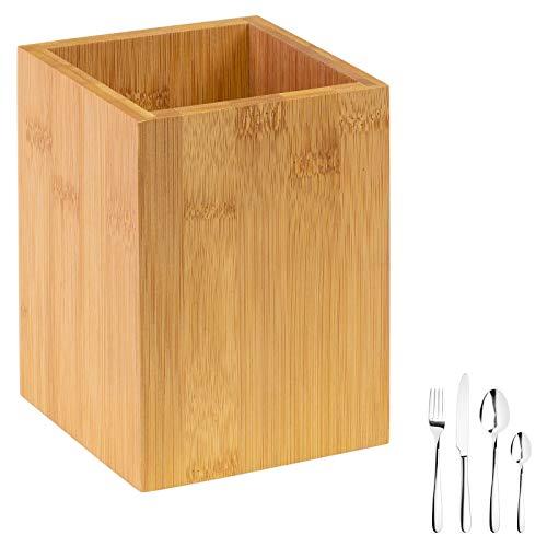Westmark Utensilienhalter/Küchen-Organizer, eckig, Maße: 13,5 x 10 x 10 cm, Bambus, Tapas + Friends, Hellbraun, 69862270