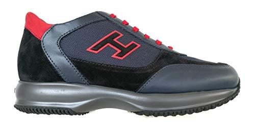 Hogan Sneaker Interactive Uomo H Flock Pelle HXM00N0Q101O8M50BU 41, O8M Blu