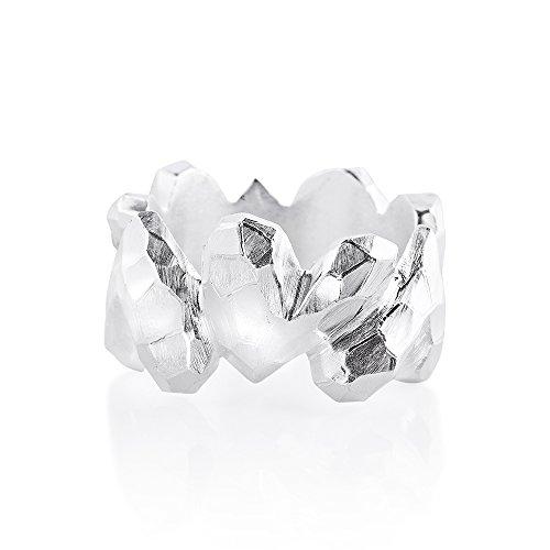 Drachenfels Luxus Damen Ring Silber aus der Kollektion Heartbreaker | Faszinierender Herz Ring | Edler Designer-Schmuck, Designer-Ring