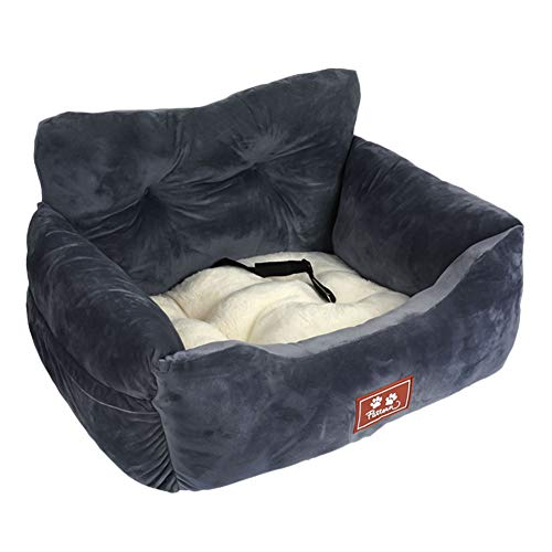NIBESSER Hunde Autositz kleine Hunde Weicher Waschbarer Rutschfester Hundesitz für Auto mit Abnehmbare HundeKissen Katze Reisen Front Booster Sitze