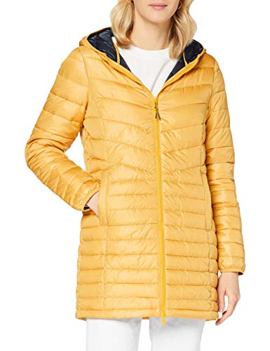 TOM TAILOR Denim Damen Light Padded Jacke, 10410-Indian Spice Yellow, M