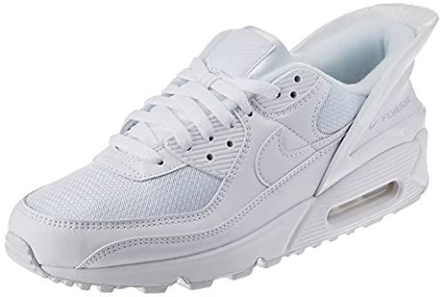 Nike Air MAX 90 FLYEASE, Zapatillas para Correr Hombre, White/White-White, 41 EU
