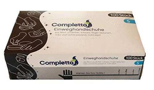 Nitril Einweghandschuh Einmalhandschuh Schutzhandschuh Farbe Schwarz Puderfrei 100 Stück In Spenderbox