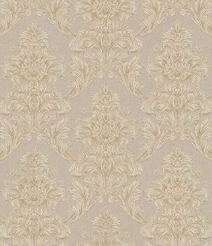 Casa Padrino Barock Textiltapete Beige/Creme/Grau 10,05 x 0,53 m - Tapete im Barockstil