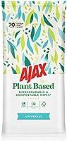Ajax Wipes Universal, Rengörande, Veganmärkta Växtbaserade Städservetter, Biologiskt Nedbrytbara och Komposterbara – 70...
