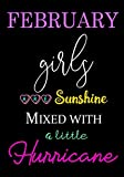 February Girls Are Sunshine Mixed With A Little Hurricane: Blank Notebook, Journal for her - Birthday's Gift