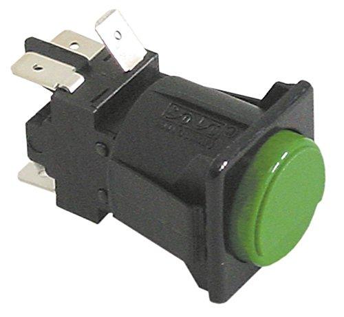 Lamber - Interruptor de presión para lavavajillas 015-24L, L21, F85, L20, 050F, 050F-Dep 250 V 2CO (28,5 x 28,5 mm, 2 polos, 16 A, IP40), color verde