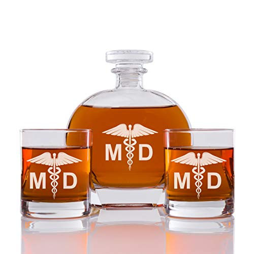 Abby Smith - Whiskey Decanter Medical Doctor - Set 3PCS