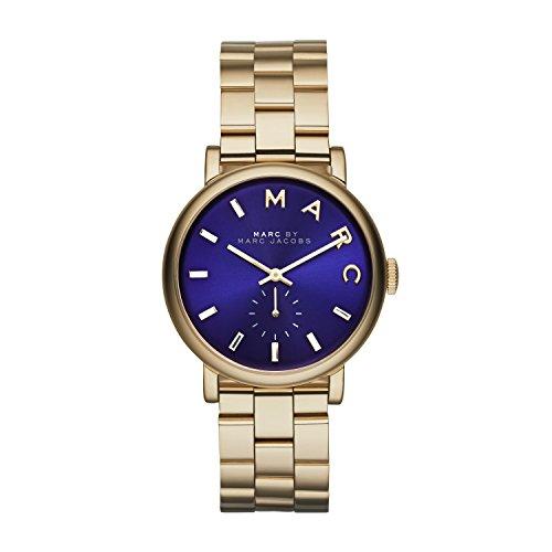 Marc Jacobs MBM3343 - Reloj de Cuarzo para Mujer, Correa de Acero Inoxidable Color Dorado