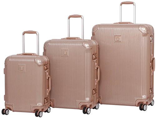 it luggage Crusader Hardside 8-Wheel Spinner, Almondine, 3-Piece Set (21/26/31)