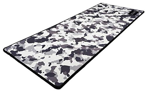 Board | Snow Camo Extended Gaming Mouse Pad/Mat XXL: Maximum Control and Speed, Anti-Fray Stitched Frame, Ultra Thick 4mm, Non-Slip Large Mousepad and Keyboard Mat 31.5'x11.8'x0.16'