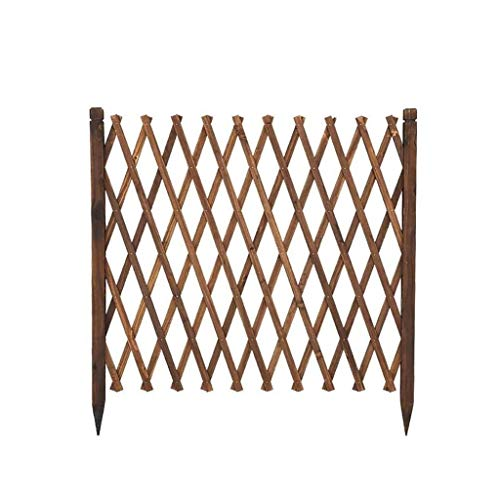 Fence Fence Wooden Guardrail Outdoor Garden Fence Pet Fence Grid Expandable (Size : 124 * 270cm)