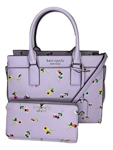 Kate Spade New York Cameron Medium Satchel bundled with matching Large Continental Wallet (Wildflower Ditsy)