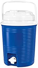 Innovative Technology 6.5-Liter Round Cooler with Waterproof Bluetooth Speakers and Built-in 4,400mAh Power Bank, Blue