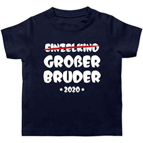 Geschwisterliebe Baby - Einzelkind Großer Bruder 2020-18/24 Monate - Navy Blau - t Shirt Bruder 2019 Baby - BZ02 - Baby T-Shirt Kurzarm