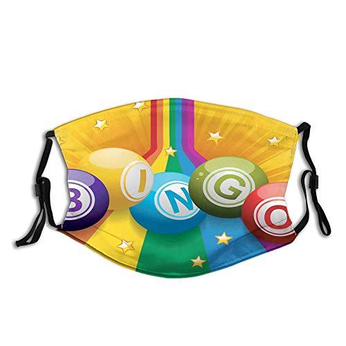 DPASIi Colorful Bingo Balls on Rainbow Over Yellow Bursting Background Leisure Time Fun Colorful Bingo Balls on Rainbow Over Yellow Bursting Background Leisure Time Fun