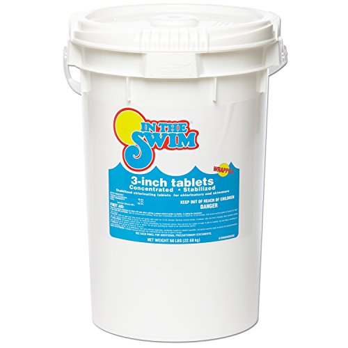 "In The Swim 3"" Inch Pool Chlorine Tablets - 50 Pounds"