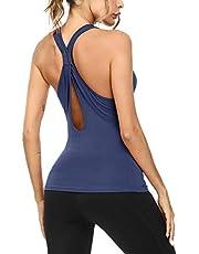 Sykooria Camiseta de Sin Mangas para Mujer Fitness Deportiva Tirantes de Ocio para Yoga Gimnasio Pilates Correr Pijamas Tank Tops