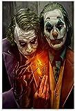 Pintura De La Lona 50x70cm Sin Marco Heath Ledger And Joaquin Phoenix Joker Poster Decorative Living Room Bedroom