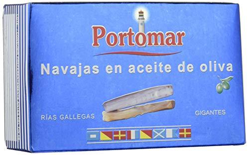 Navajas de las Rías Gallegas en aceite de oliva-Gigantes-Portomar- 1 x 111gr- total= 111gr.