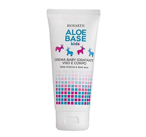 BIOEARTH - Aloebase Kids - Crema hidratante para el rostro y el cuerpo del bebé - para pieles delicadas - Para uso diario - Probado dermatológicamente - 100 ml