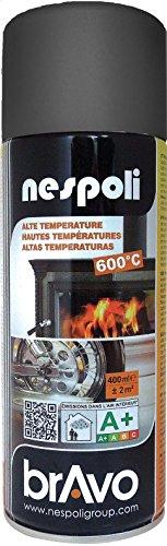 Aérosol spécial hautes températures noir 400 ml, NESPOLI