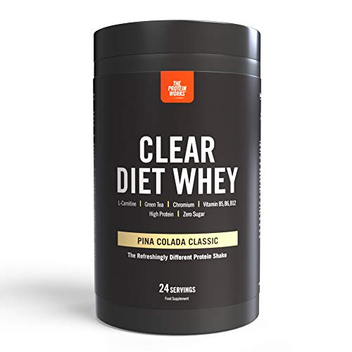 Clear Diet Whey Isolate Protein | Refreshing Drink | Sugar Free & Zero Fat | Energising Vitamins | Pina Colada Classic | THE PROTEIN WORKS | 24 Servings