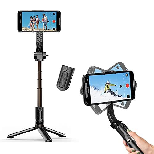 IYUNDUN Selfie Stick Bluetooth, Treppiede Portatile Estensibile per Cellulare con Stabilizzatore Cardanico Ad ASSE Singolo, Adatto per iPhone, Samsung Galaxy/Note, Google Pixel, Oneplus