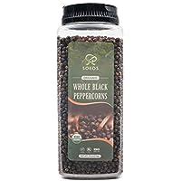 Soeos Organic Black Peppercorns, 18oz
