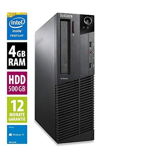 Lenovo ThinkCentre M73 SFF | Office PC | Computer | Intel Pentium G3240 @ 3,1 GHz | 4GB RAM | 500GB HDD | DVD-Laufwerk | Windows 10 Home (Zertifiziert und Generalüberholt)
