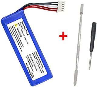 High Capacity Replacement Battery + Tool for JBL Flip 4 Speaker or Special Edition Model GSP872693 Li-Polymer 3.70V 3000mAh/11.10Wh Repair Power