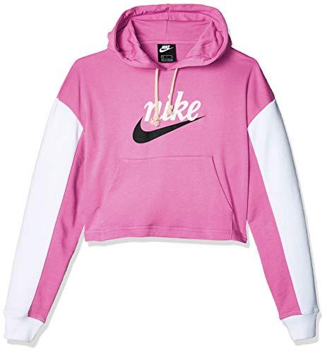 NIKE CJ4072-693 Hooded Sweatshirt, Rosa, XL Womens