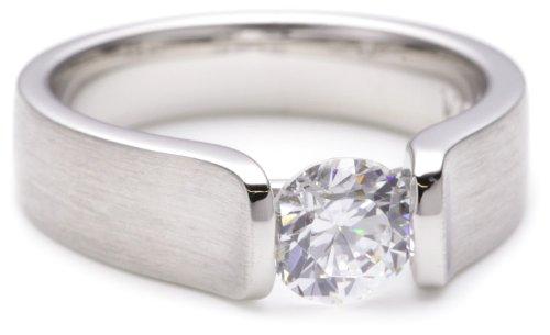Viventy Damen-Ring 925/-Sterling Silber 1 Zirkonia Ringröße 54 693211