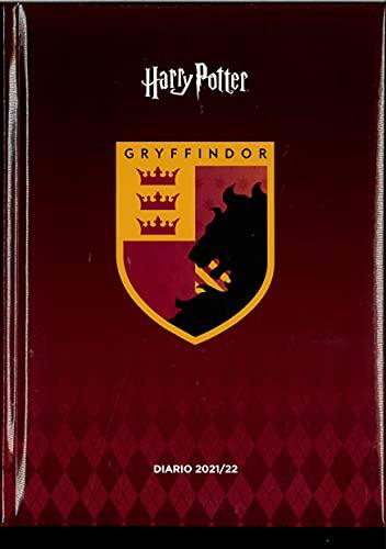 Diario Datato 2021-22 Compatibile Harry Potter + Penna Colorata Formato Standard 15x20 Centimetri (1 Rosso)