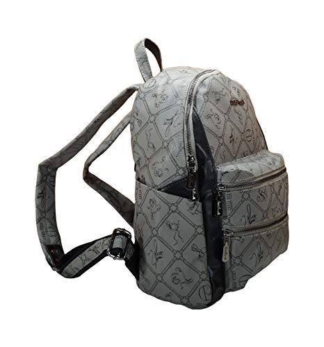 Rucksack Damen Mädchen Reisen Schultasche Lederimitat modern Handgepäck in Verschiedene Farben (Grau)