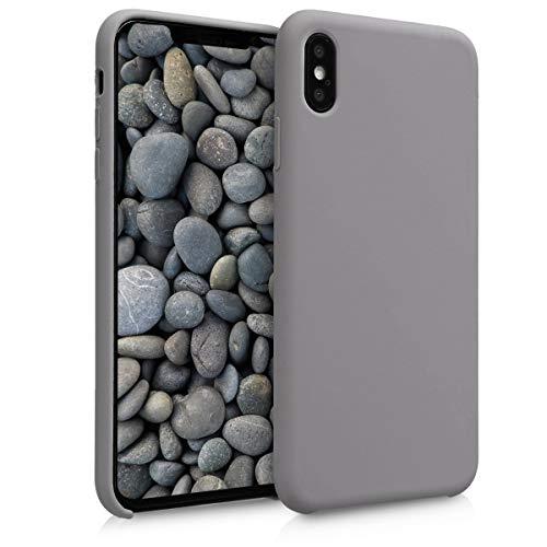 kwmobile Hülle kompatibel mit Apple iPhone XS Max - Hülle Silikon gummiert - Handyhülle - Handy Hülle in Titanium Grey