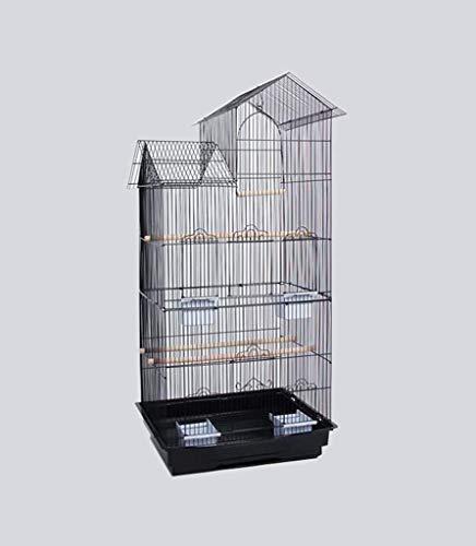 FTFDTMY Gabbie per Uccelli in Stile casa, scatole per Allevamento di Uccelli, Gabbie per Uccelli per canarini, parrocchetti di monaci, piccioni (Colore: A, Dimensioni: 46 * 36 * 100 cm)