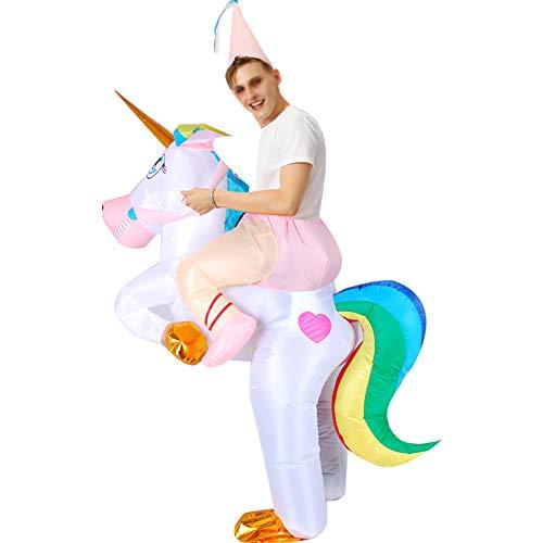 XXLLQ Disfraz Inflable De Unicornio Traje De Cosplay Fiesta para Adulto/Niño Disfraz Hinchable de Halloween Caballo Hinchable Disfraz Unicornio Hinchable Disfraz con Sombrero,Child